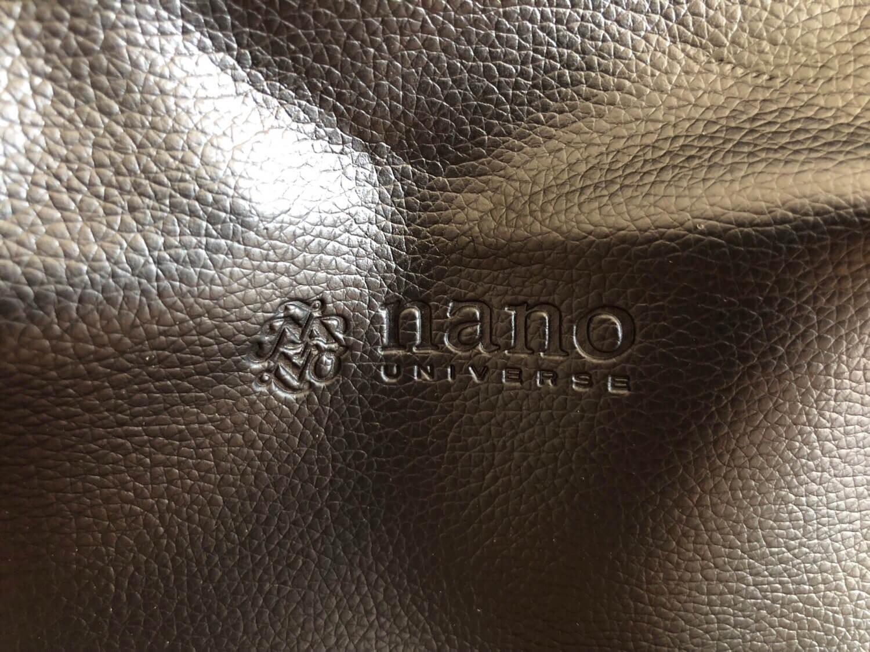 Mono Max付録 nano universeボストンバッグの開封レビュー ロゴ