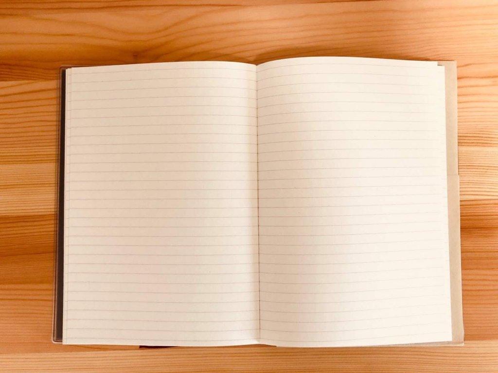 無印2019バーチカル手帳フリーページ