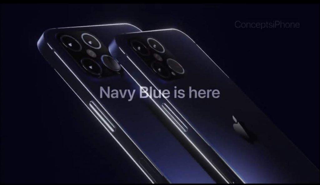 iPhone12ネイビーブルー