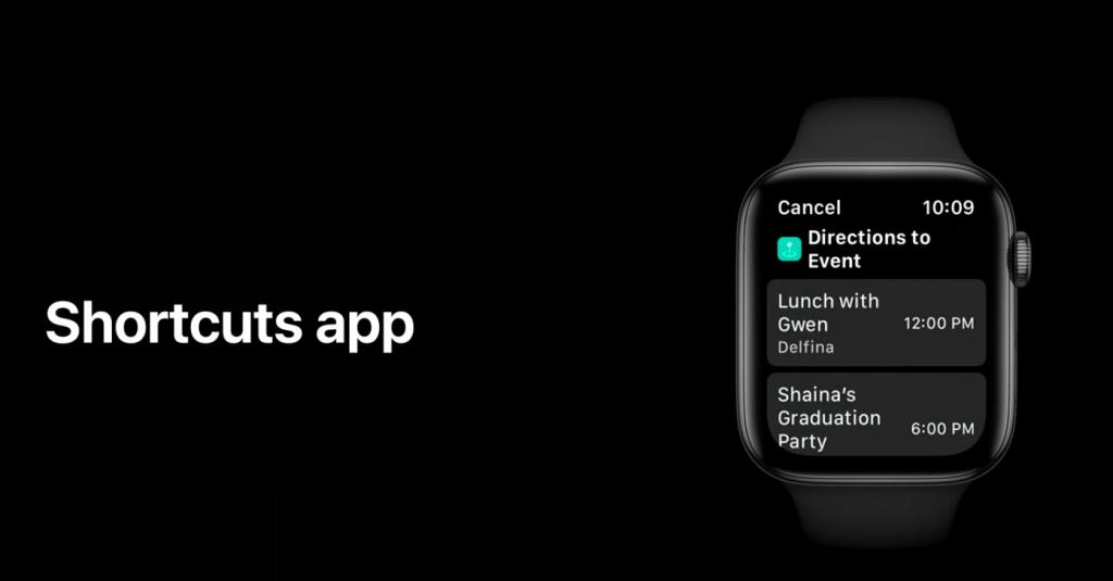 Apple Watch watchOS7 ショートカットアプリ