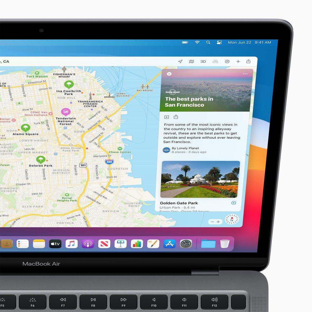 次期macOS「macOS Big Sur」のマップ機能
