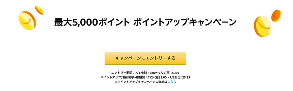 Amazonタイムセール ポイントアップキャンペーン