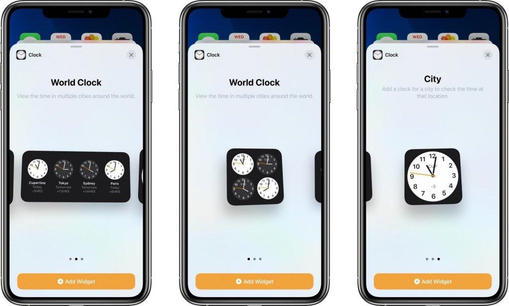 iOS14の時計ウィジェット