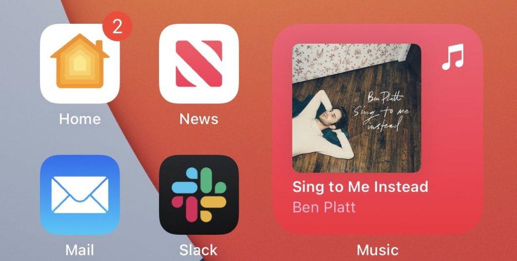 iOS14 ミュージックアプリのウィジェット