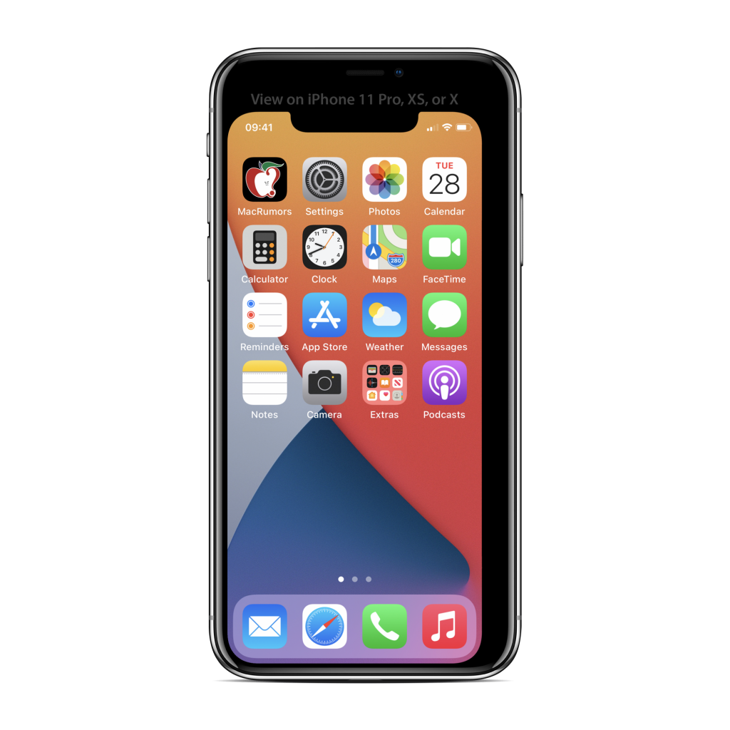 5.4インチiPhone 12の画面サイズ