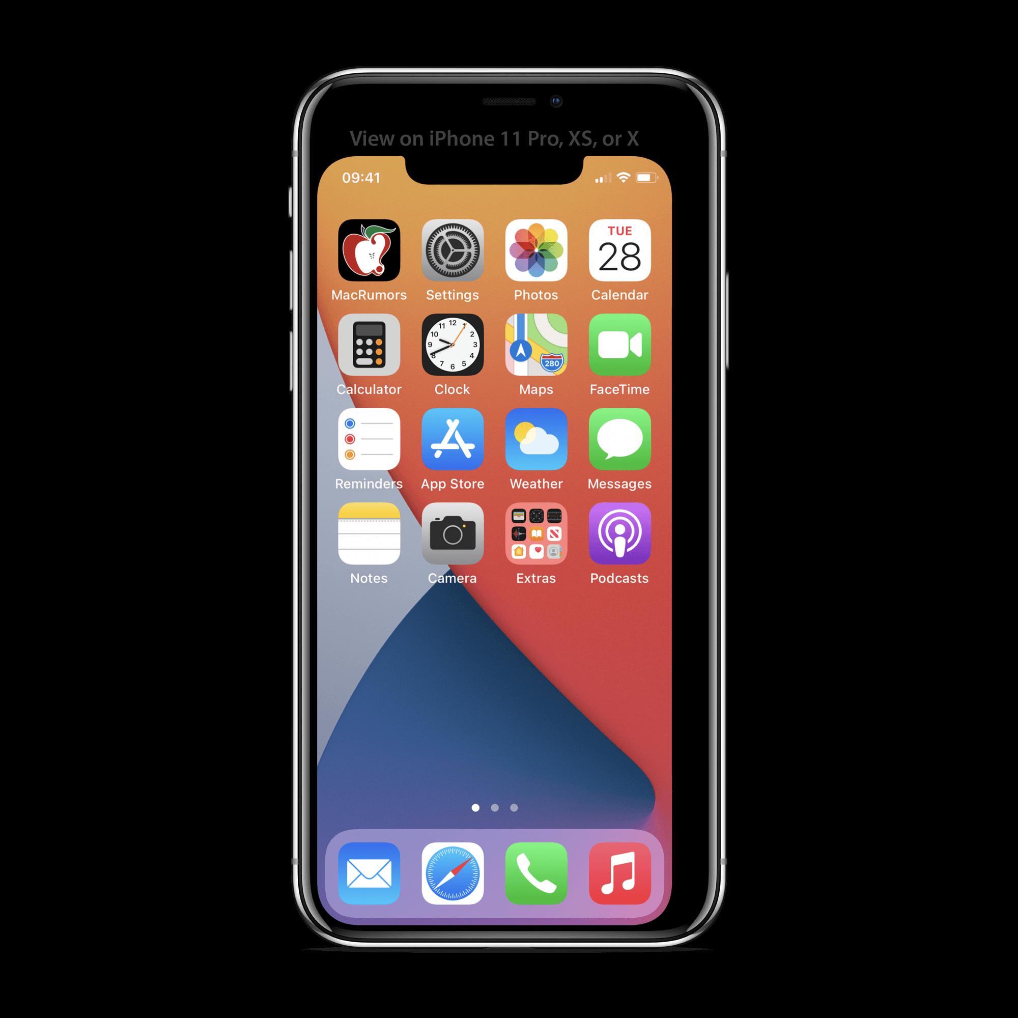Iphone 12 の5 4インチ画面の使用感を確認できる壁紙が公開 Engrave