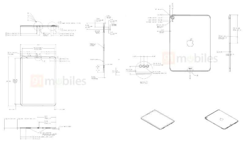 新型iPad(第8世代)の図面