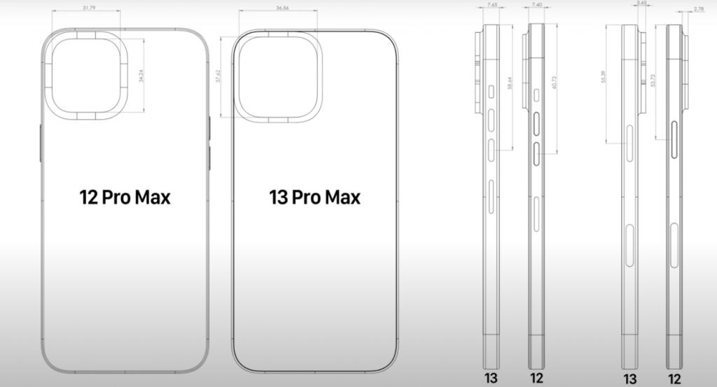 iPhone13 Pro Max図面