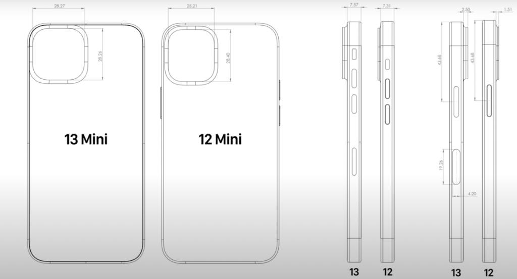 iPhone13mini図面