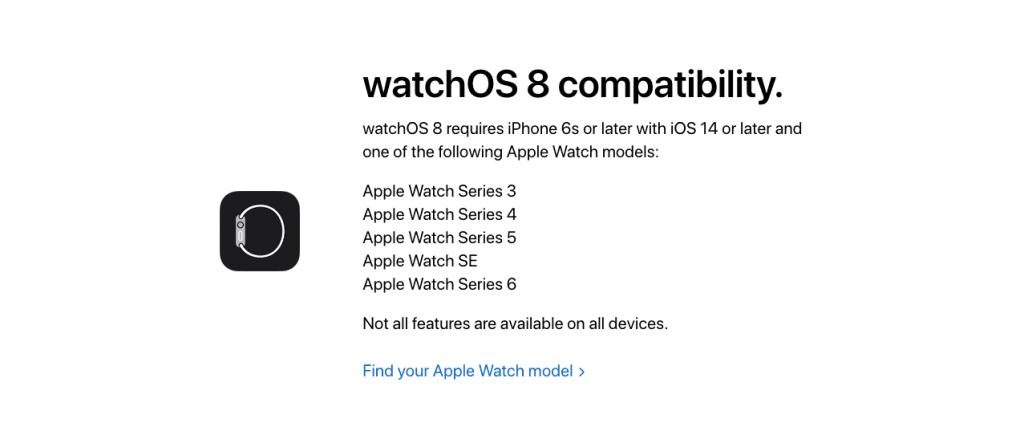 「watchOS 8」対応機種一覧