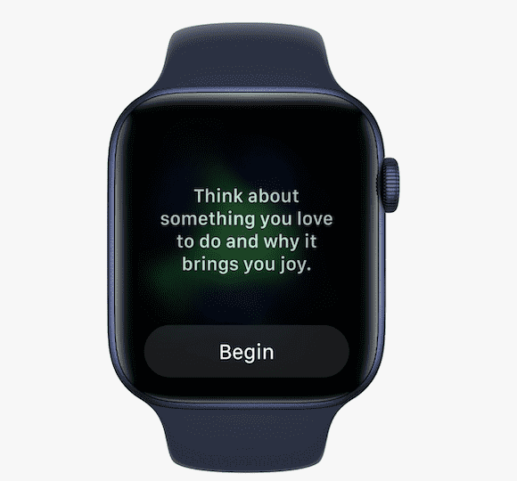 watchOS 8の新機能 マインドフルネス リフレクト機能