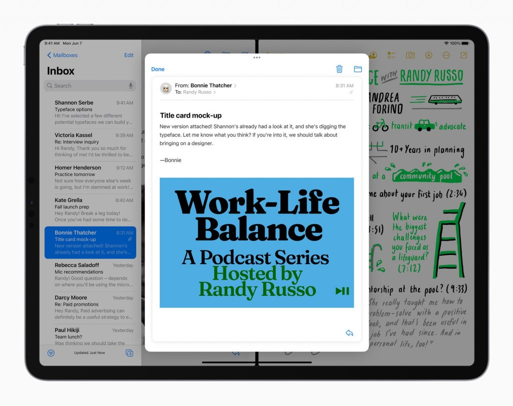 iPadOS15 ホーム画面プレビュー