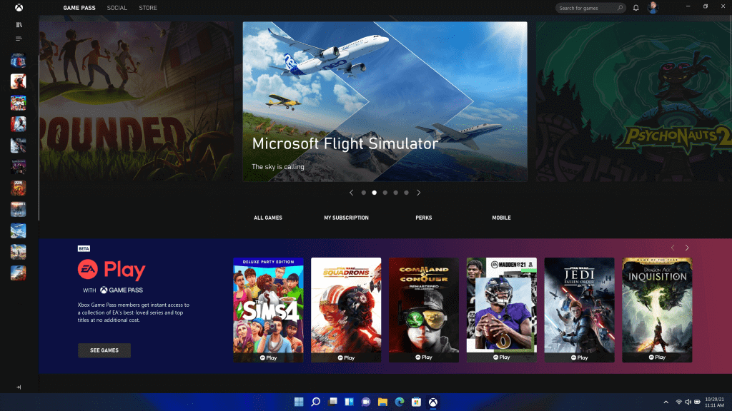 Windows 11 ゲーム画面