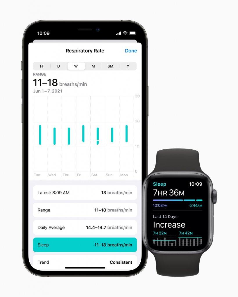 watchOS 8の新機能 呼吸数の記録