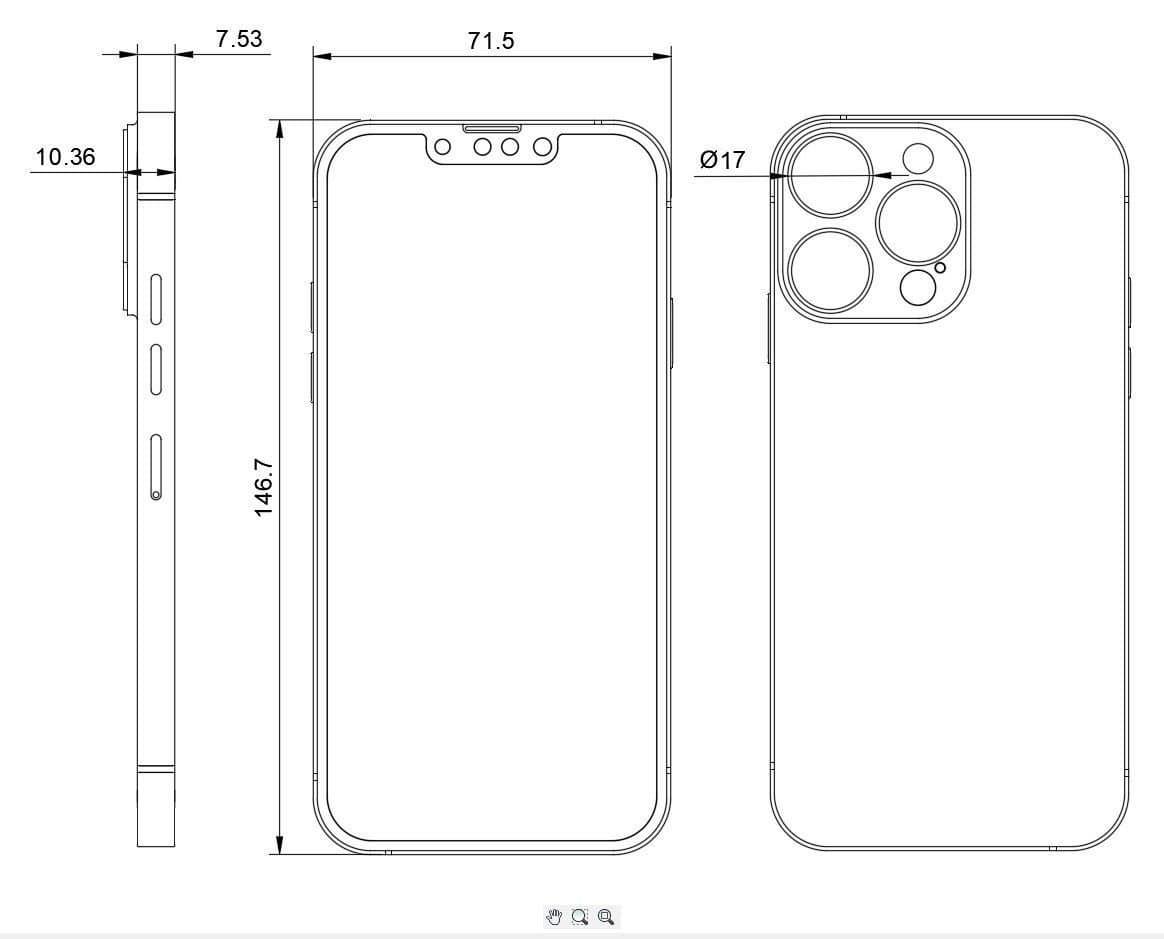 iPhone 13 図面