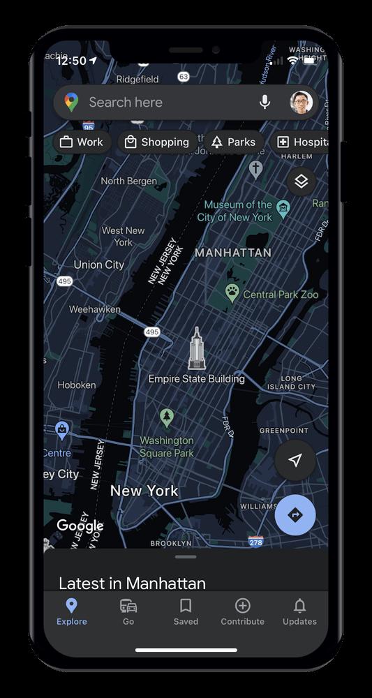 Googleマップ ダークモード